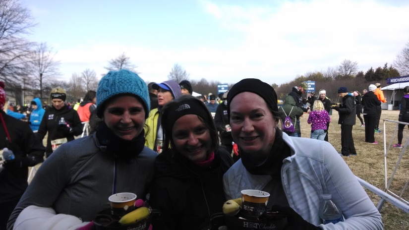 Gorging ourselves on delectable chocolate after the race