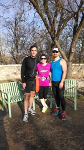 Running with friends in Tulsa