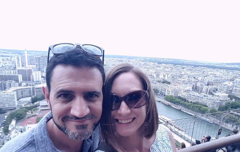 Eiffel tower observation deck obligatory selfie