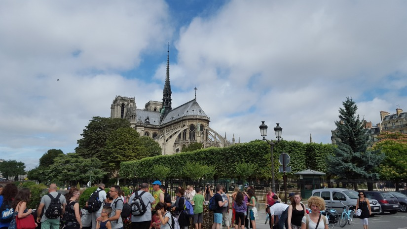 Notre Dame later in the day with all her crowds. It was fabulous to spend some alone time with her at daybreak.