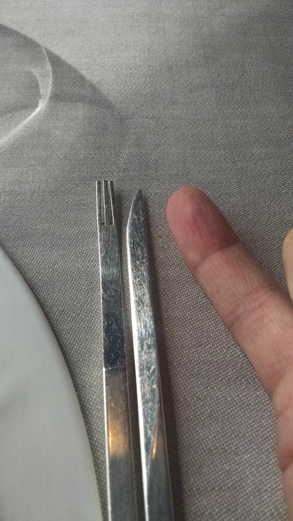 I guess at super fancy restaurants they expect you to eat with tiny utensils