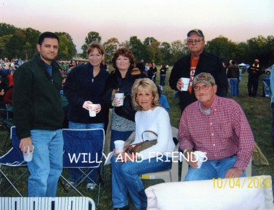 The time we went to see Willie Nelson perform a benefit concert in a field in Leper's Fork.
