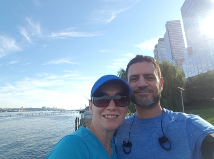 "Birthday run in NYC. We ran through the ""Highline trail"" and then along the Hudson River trail."